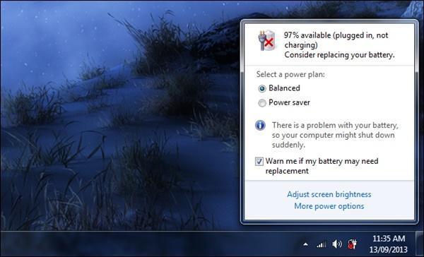 Pin laptop IBM Lenovo đã bị hỏng bạn nên thay một quả pin khác